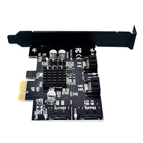 Preisvergleich Produktbild Level 4 Port SATA 6G PCI Express Card Riser PCI-E zu Sata III 3.0 Converter SATA3.0 HDD SSD IPFS 88SE9215