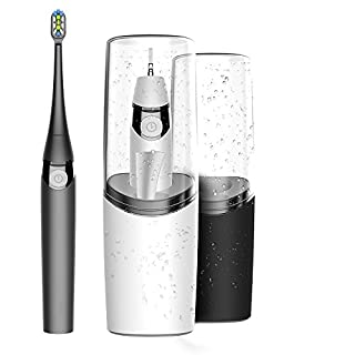 AIJIWU Sonic Electric Toothbrush,USB Rechargeable Toothbrush with Gargle Cup,UV Sanitizer, Cordless Rechargeable and Drying pad & Replacement Heads for Home and Travel