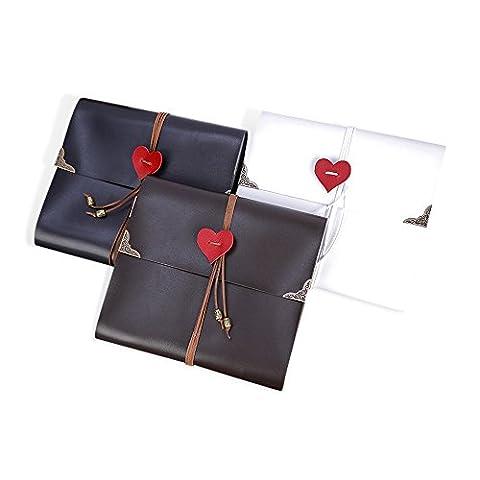 Zhi Jin Leather Heart Adhesive Photo Album DIY Retro Picture