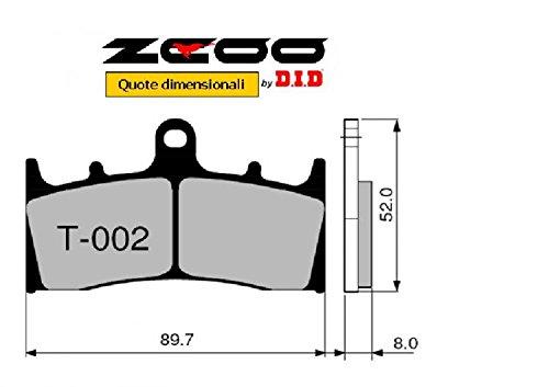 45T00200 PASTIGLIE FRENO ZCOO (T002 EX) SUZUKI GSX-R 1000 K1-K2 2001-2002 (ANTERIORE)