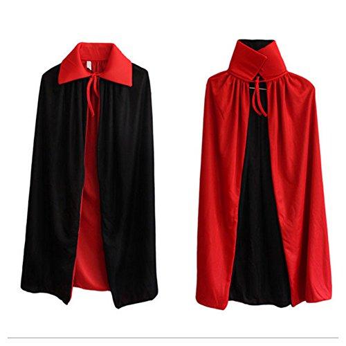 Labellevie Vampir-Kostüm für Junge und Mädchen Umhang Halloween 120cm (Mädchen Sensenmann Kostüm)