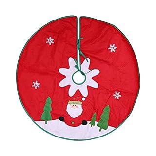 BESTOYARD Weihnachtsbaum Decke Rot und Weiß Weihnachtsdeko 90cm
