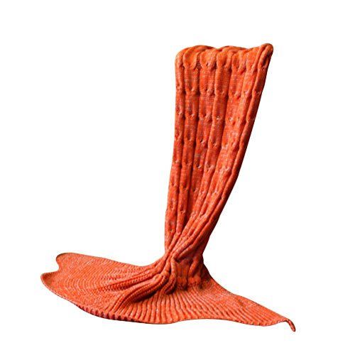 Hualing Gro?e Fischschwanz-Meerjungfrau-starke gestrickte Decke