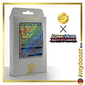 Darkrai-GX 158/147 Arcoíris Secreta - #myboost X Sonne & Mond 3 Nacht in Flammen - Box de 10 Cartas Pokémon Aleman