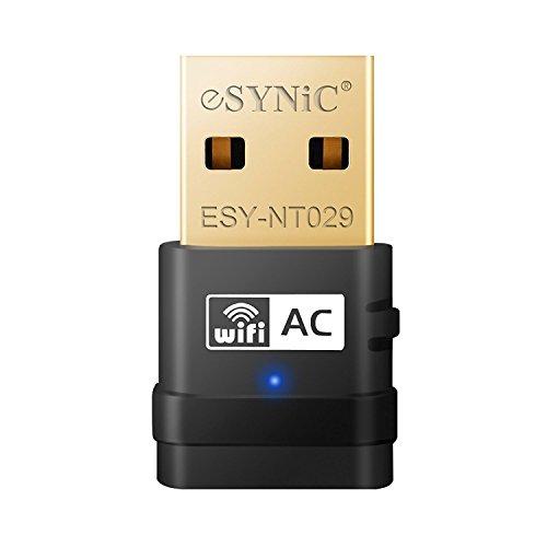ESYNiC Nano Adaptador de Red USB Inalámbrico de Banda Dual Velocidad Máxima...