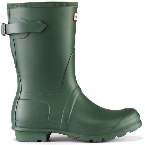 Hunters–Original Short Gloss Gummistiefel, Unisex Verde(Green)