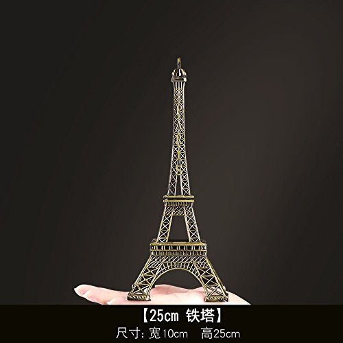 SQBJ Die weltberühmten Sehenswürdigkeiten in Paris Eiffel Tower Modell Dekoration Deko Schreibtisch kreative Geschenke, 25 cm Der Turm