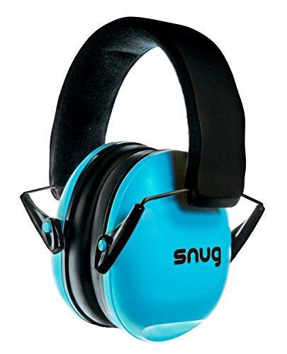 Snug Safe n Sound Kinder Gehörschutz Kapselgehörschutz. Verstellbare Stirnband Ohrenschützer für Kinder und Erwachsene - 5 JAHRE GARANTIE - (Blau)