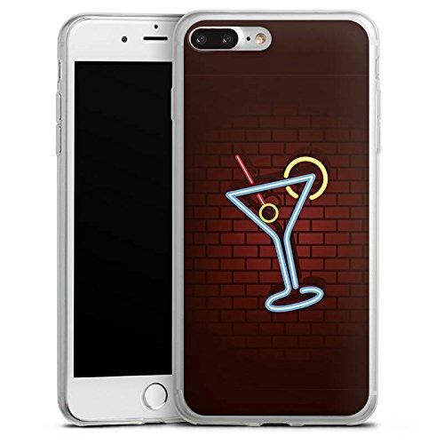 Apple iPhone X Slim Case Silikon Hülle Schutzhülle Cocktail Party Neon Silikon Slim Case transparent