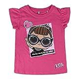 L.O.L Surprise ! Maglietta per Bambina LOL Dolls con Le Bambole Rocker, BFF Fancy & Fresh, Diva, IT Baby e M.C. Swag | Vestiti Estivi per Ragazza 100% Cotone (9/10 Anni, It Baby)