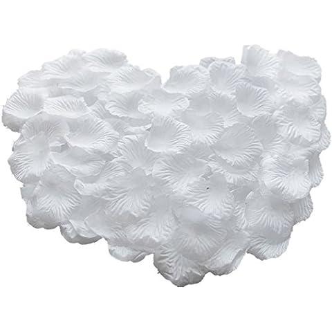 Hosaire 1000 pz petali di rosa in seta bianca per feste matrimonio,bianco - 1000 Di Rosa Di Seta Petali
