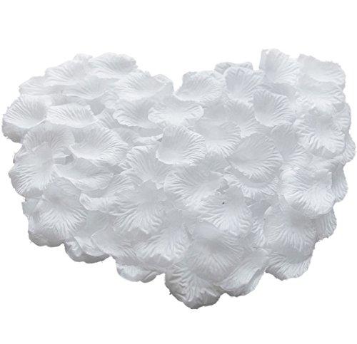 WeiMay Künstliche Blumen Silk Rosenblätter Hochzeits Hotel Garten Party Dekoration 1000pcs Weiß