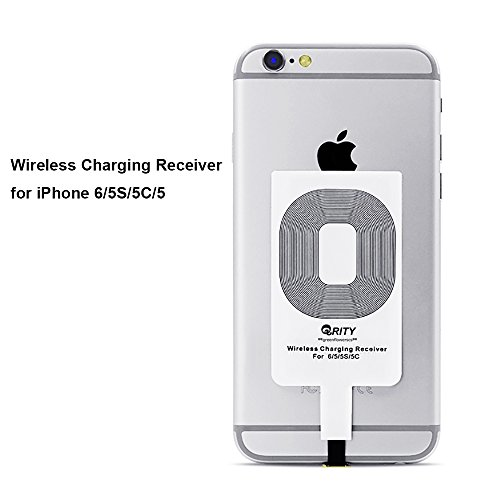 Qi Récepteur de Charge Sans Fil Inductive Pour iphone 5/5s/6/6s/6 plus/6s plus/ipad mini