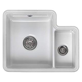 Reginox Tuscany 1.5 Bowl White Ceramic Undermount Kitchen Sink & Waste