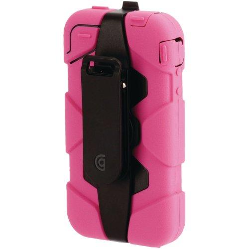 Griffin Survivor Schutzhülle für iPhone 4 / 4S (von Militärs getestet), Farbe:  weiß / schwarz rose