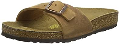 Birkenstock Madrid Sandali, unisex adulto, Marrone (Antik Braun), IT 35 (2 UK)