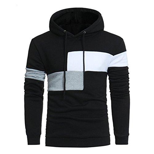 ITISME Herren Pullover MäNner Langarm Hoodie NäHte Farbe Mantel Jacke Outwear Sport TopsXxxxl Young Style Your Turn Zip ZWeißArbig Zerissen Unisex 4XL 5XL 157X -