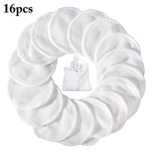 Kapmore Coussin de démaquillage 3 canapés réutilisables lavables avec sac en filet