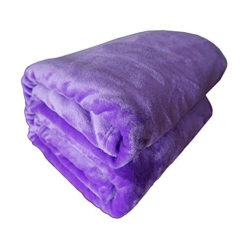 Warme Weich Hochwertige Flanell Fleece Decke / Kuscheldecke / Mikrofaser Wohndecke / Farben wählbar Bed Polyester Decke ,150 x 200 cm, Lila