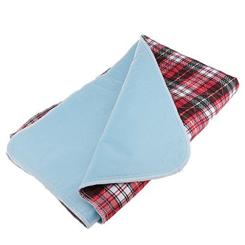 Gazechimp Bettunterlage Inkontinenz Auflage Saugfähig Maschine Waschbar für Baby Kleinkind Erwachsene Alter Kranken Wickelauflage - Rot, 80x90cm