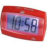 Trevi SLD 3065 - Orologio Digitale con Sveglia e display LCD di grandi dimensioni - Retroilluminazione del quadrante a Led per una perfetta visione notturna – Rosso