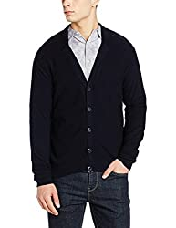 Peter England Mens Sweater (ESW51708065_DarkBlueSolid_Small)