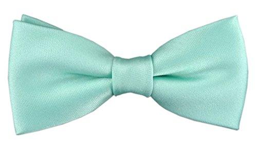 TigerTie Kleinkinder Baby Fliege in mint grün mit Gummizug 29 bis 40 cm Halsumfang verstellbar + Aufbewahrungsbox -