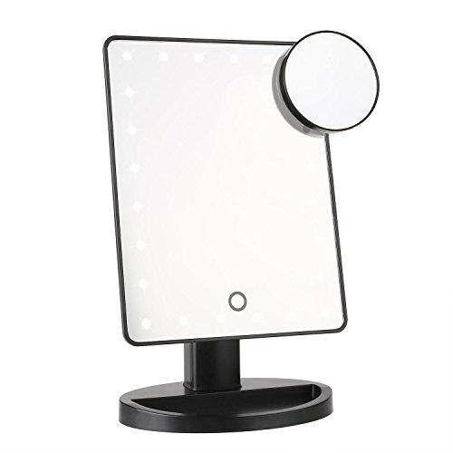 MVPOWER Kosmetikspiegel Schminkspiegel mit Licht, 24 LEDs Kosmetik Standspiegel Make-up Spiegel mit...