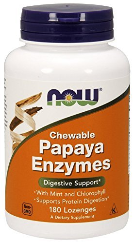 Now Foods, kaubare Papaya Enzyme, 180 Lutschtabletten