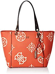 GUESS Womens Handbag, Orange/Multicolour - SO669123