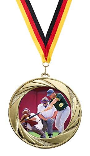 »Baseball«, mit 50 mm Sportfoto-Emblem (Metall, bunt) (Baseball-trophäen Für Kinder)
