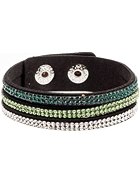 adonia mode Funkelndes Damen Mehrlagig Armband Glitzer Strass verstellbar , Mod. 118