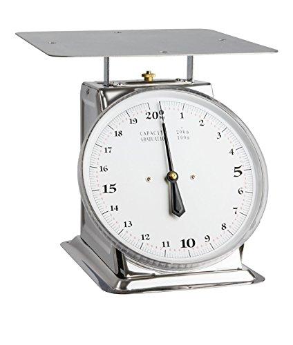 Bilancia cucina mecaniqu 20kg/Graduazione 100g acciaio inox Ogo