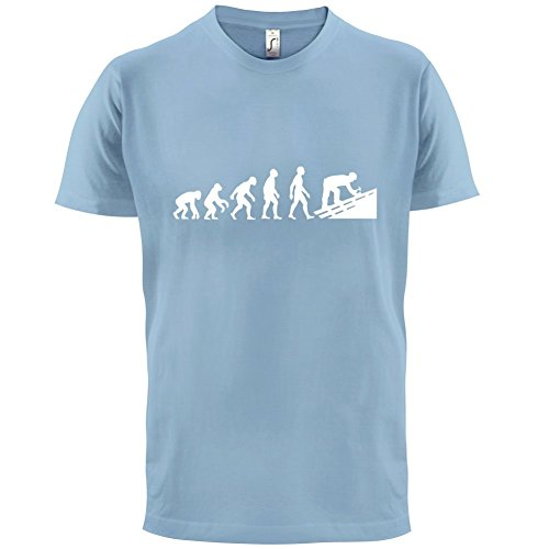 Evolution Of Man Dachdecker - Herren T-Shirt - 13 Farben Himmelblau