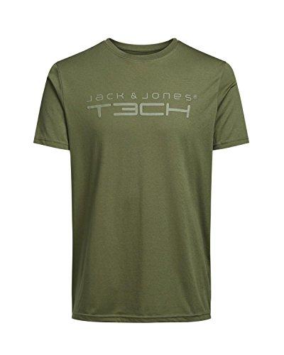 Jack & Jones Tech Herren T-shirt JJT Foam New Tee Short Sleeves Crew Neck Noos Peacoat