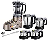 #7: Panasonic AC MX-AC555 1000-Watt Mixer Grinder with 5 Jars (Bronze)
