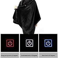 Awtang 5V USB Heated Warm Shawl USB Intelligent Thermostat Maintenance Travel Heated Blanket Portable and Machine Washable for Car Sofa Chair Office Lunch Break compatible