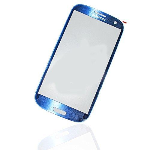 Für Samsung Galaxy S3 I9300 i9301 LTE SIII Front Glass Panel Front Scheibe Touch Screen Display Glas LCD Window blau