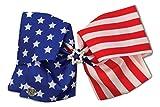 I WEAR JoJo JoJo Siwa Exclusive American Flag Print Rhinestone Star Dance Hair Bow