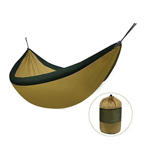 chaukelstühle \u0026 Zubehör Single Double Parachute Fabric Student Indoor Schlafsaal Swing | Erwachsener Bergsteigen-Freizeit-Stuhl | Kann 200kg (240 * 170cm) Laden (Farbe: GOL ()