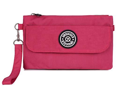weilagig, Reißverschluss, wasserdicht, Nylon, mit Schulterriemen, Pink - Big-hot Pink - Größe: Small ()