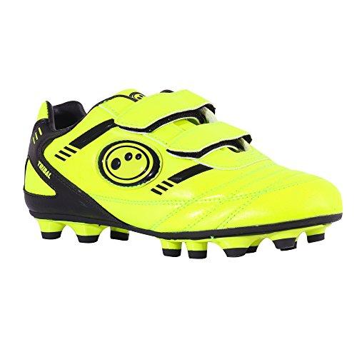 Optimum Jungen Tribal-Velcro Moulded Stud Fußballschuhe, Gelb (Yellow/Black), 26