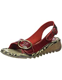 aca840c6d9c Amazon.co.uk  Red - Sandals   Women s Shoes  Shoes   Bags