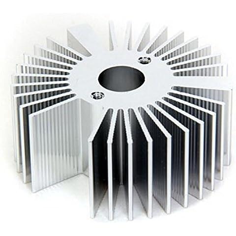 HKWX Pinne di raffreddamento, dissipatore in alluminio per luce LED da 3 W, colore: argento