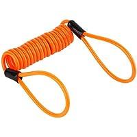 Cable de seguridad de doble lazo de bloqueo de 3.5 mm, herramienta de cable de recordatorio de seguridad para disco de freno de bicicleta de moto