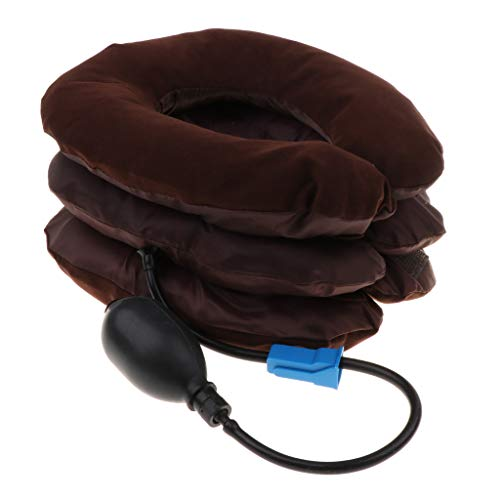 Preisvergleich Produktbild B Blesiya Aufblasbare Halskragen Nackenstütze Zervikale Traktion Nackenkissen Hals Zugvorrichtung gegen Kopf Schulterschmerzen,  mit Verstellbarer Größe