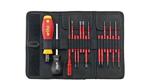 Wiha slim Selection Set / VDE Komplett Set mit Drehmoment Schraubendreher, Bithalter und slimBits / 18 teilig