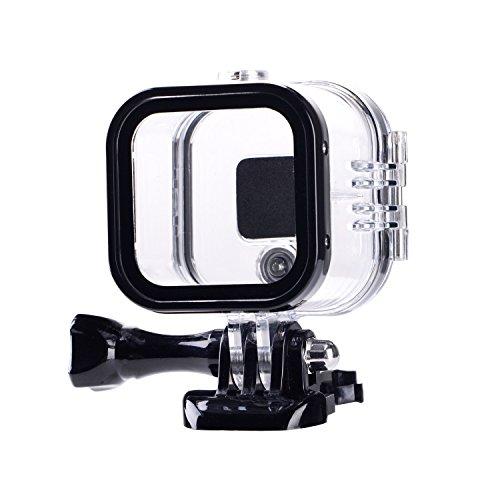 Galleria fotografica Suptig sostituzione impermeabile custodia protettiva per GoPro Hero 4SESSION, 5SESSION fuori sport fotocamera per uso subacqueo–resistente all' acqua fino a 59,7m (60M)...