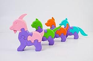 Tigres 39356 - Puzzles 3D (8 Elementos), diseño de Animales