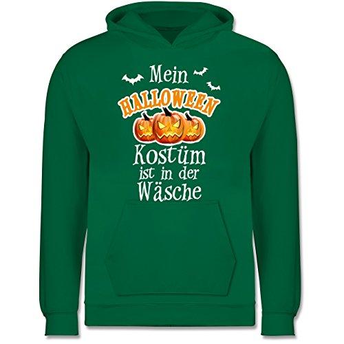 Anlässe Kind - Mein Halloween Kostüm ist in der Wäsche - 9-11 Jahre (140) - Grün - JH001K - Kinder Premium Kapuzenpullover (Fledermaus Gemütlich Kind Kostüme)